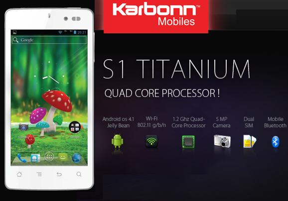 Karbonn S1 Titanium