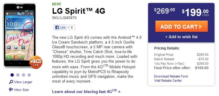 LG Spirit 4G Phone