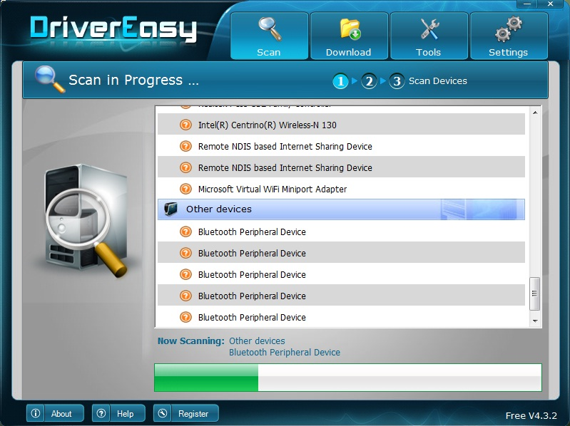 Missing Drivers Scanning
