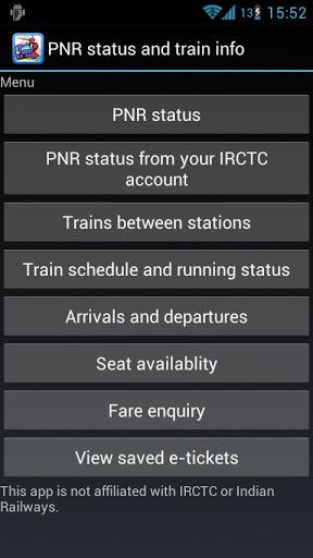 PNR status app