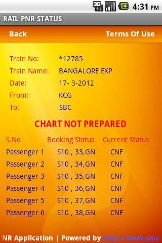RAIL PNR Status