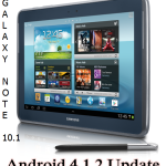 Samsung Galaxy Note 10.1 Wi Fi gets Android 4.1.2 Jelly Bean Update