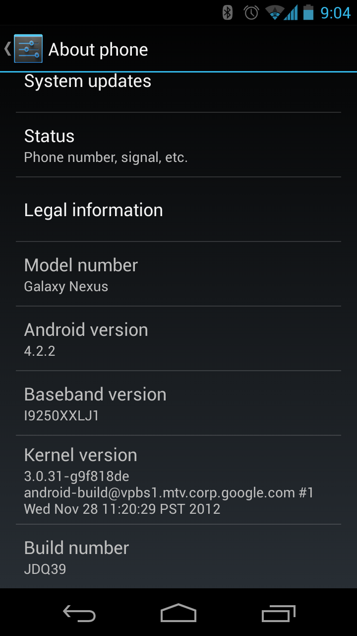 Galaxy Nexus 4.2.2 Update