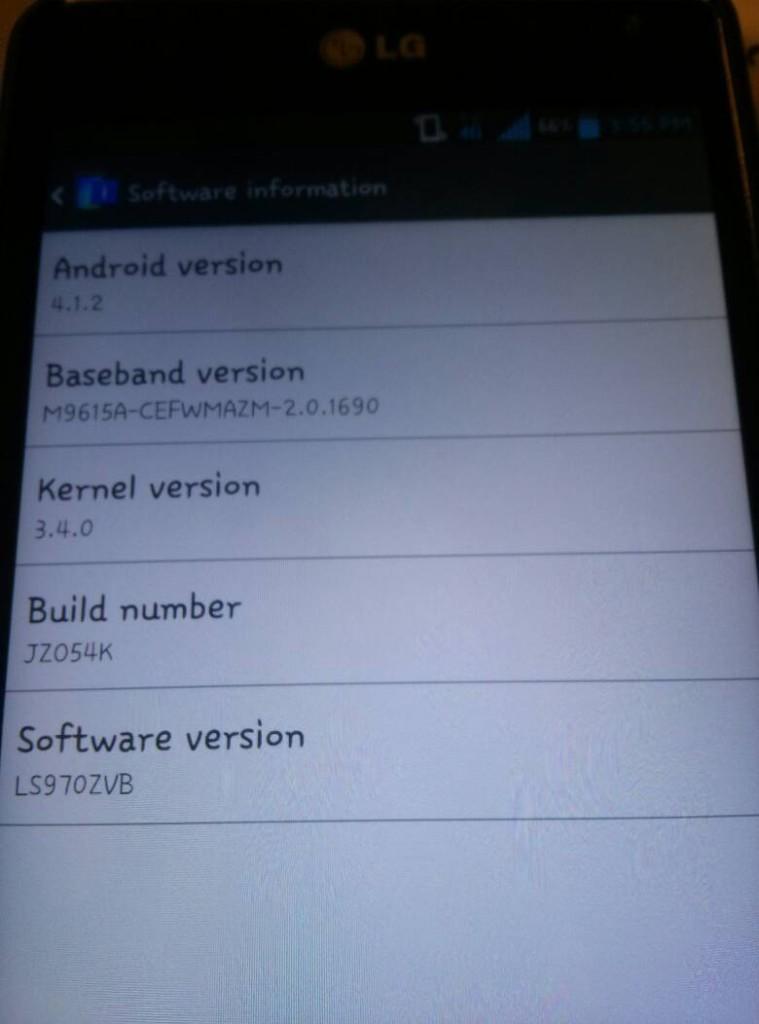 LG Optimus G Android 4.1.2