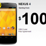Fido Brings Nexus 4 at $ 100 in Canada Now Available
