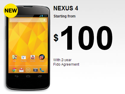Nexus 4 Fido