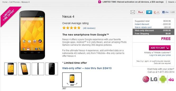 Nexus 4 T-Mobile