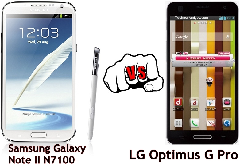 Samsung Galaxy Note 2 vs LG Optimus G Pro