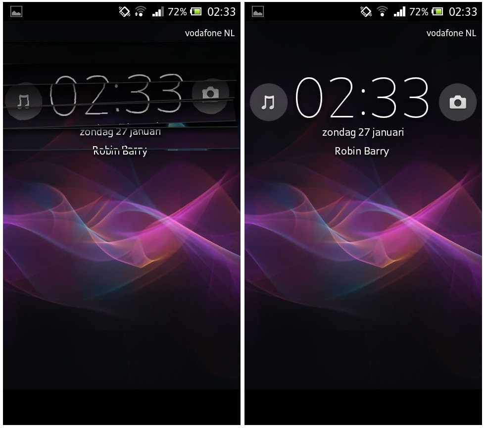 Sony Xperia JB Screenlock