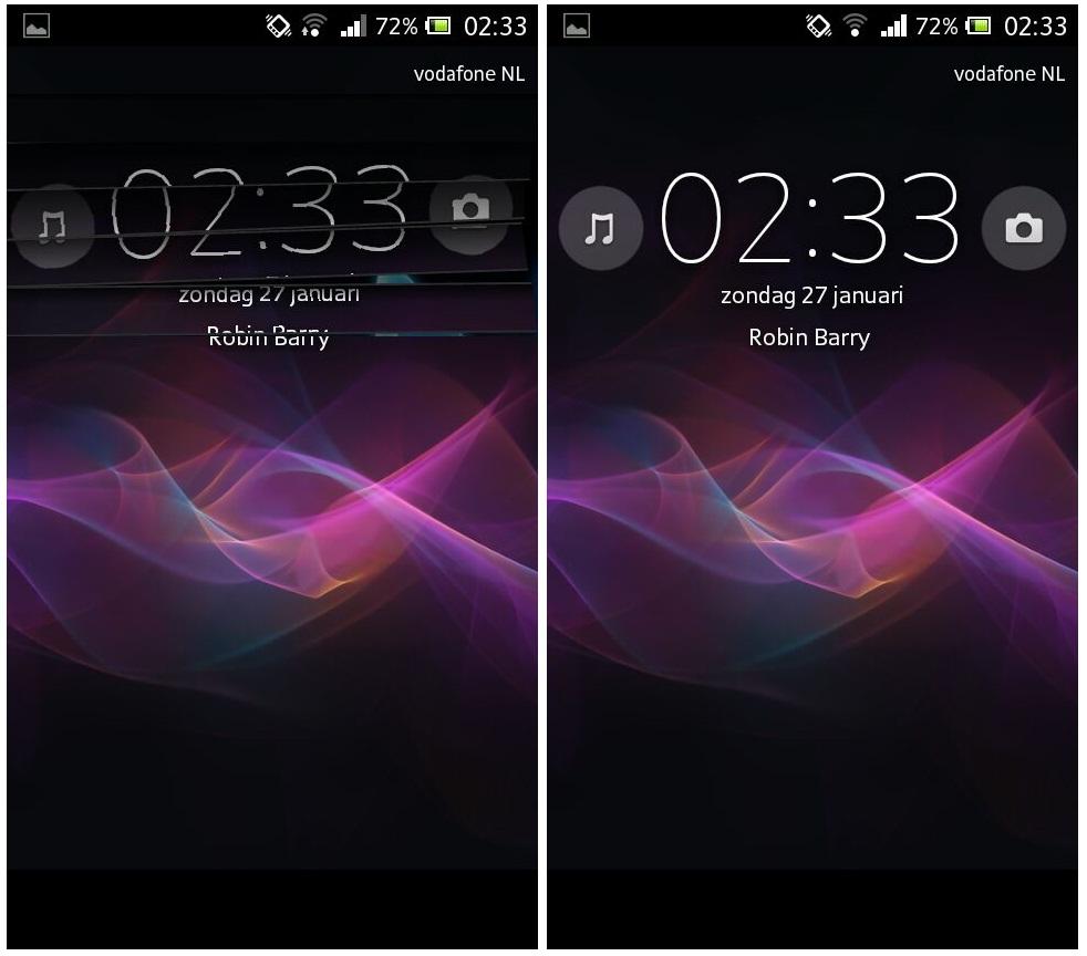 Sony Xperia JB Screenlock