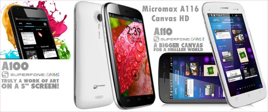 Canvas Phone comparison