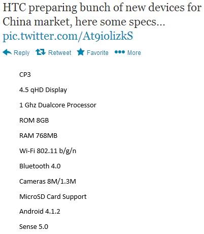 HTC CP3