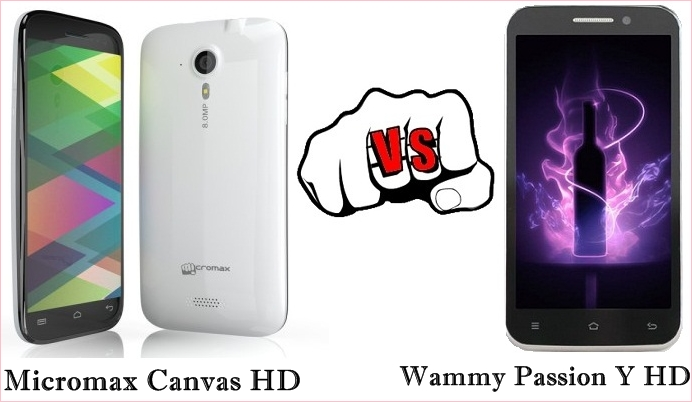 Micromax Canvas HD vs Wammy Passion Y HD - Technosamigos