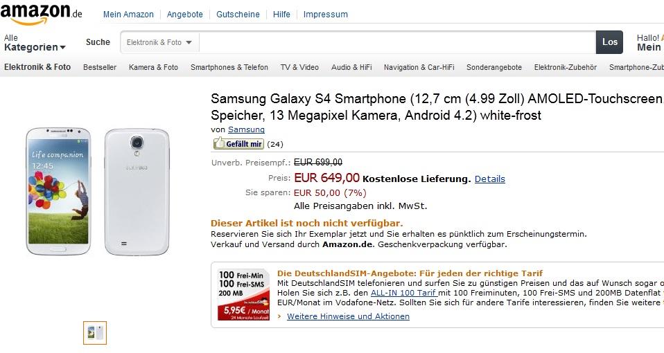 Samsung Galaxy S4 Amazon