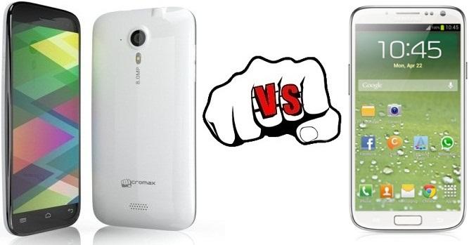 Samsung Galaxy S4 vs Micromax Canvas HD