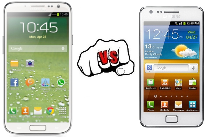 Samsung Galaxy S4 vs Samsung Galaxy S2
