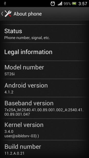 Xperia J Jelly Bean Update