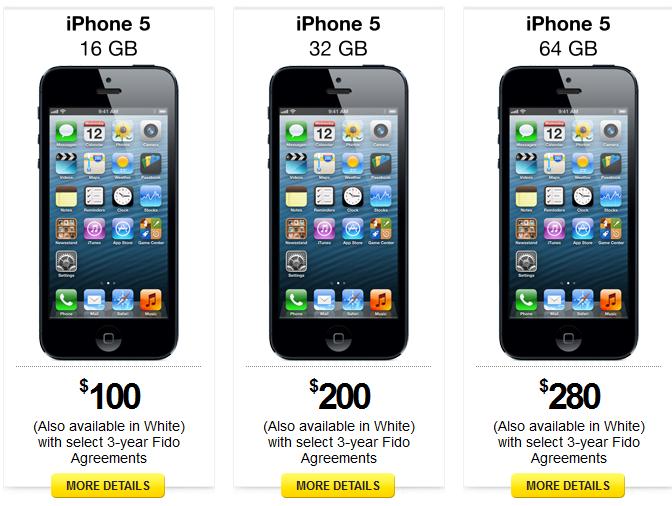 iPhone 5 Fido