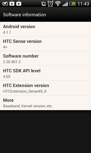 HTC Desire X Android Jelly Bean