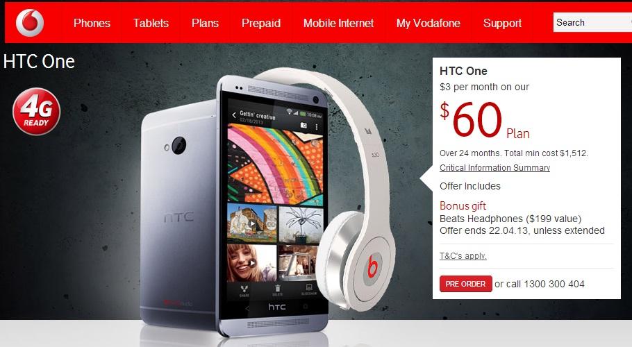 Vodagone HTC One