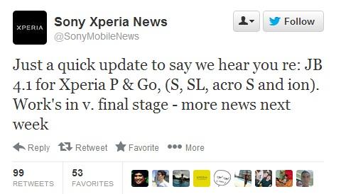 XPeria Jelly Bean Update