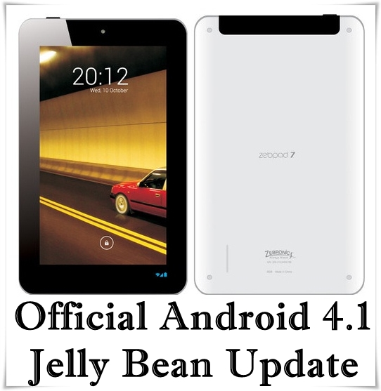 Zebronics ZebPad Jelly Bean Update