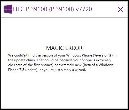 Magic Error