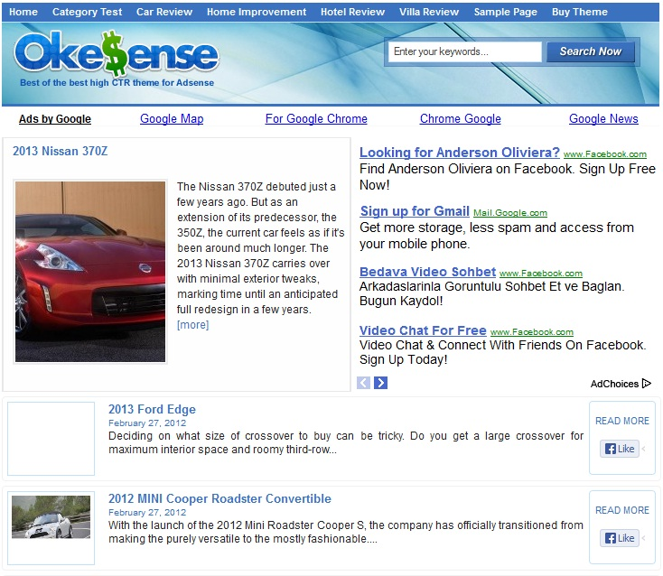 Okesense WordPress theme