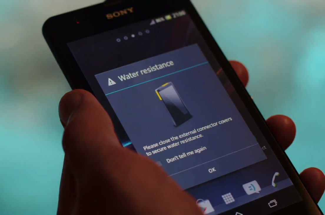 Sony XPeria ZR Water Resistant