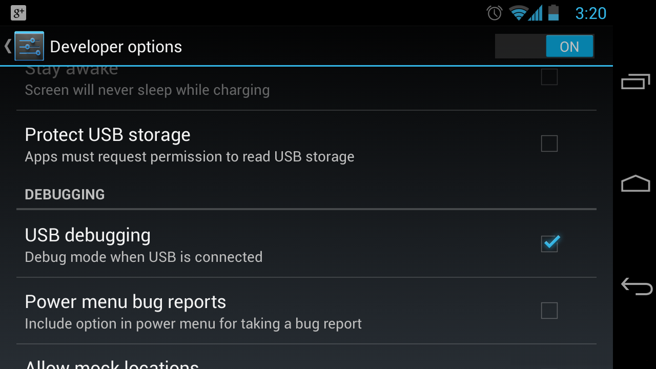USB Debugging Enabled