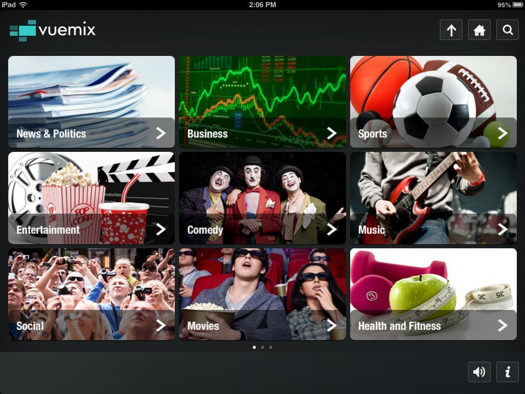 Vuemix Video Browser App