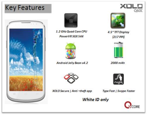 Xolo Q600 phone