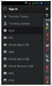 Yahoo Sports 4.0 App