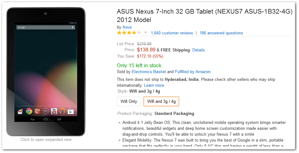 Amazon Nexus 7