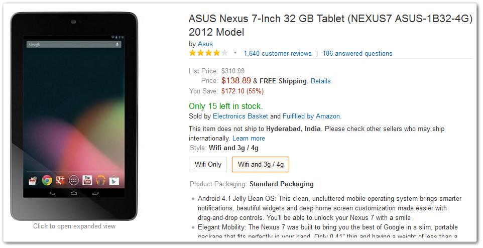 Amazon Nexus 7