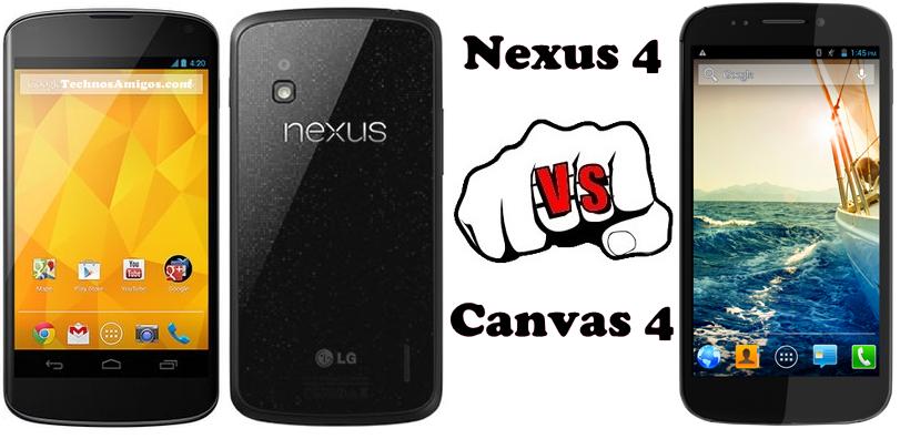 Canvas 4 vs Nexus 4