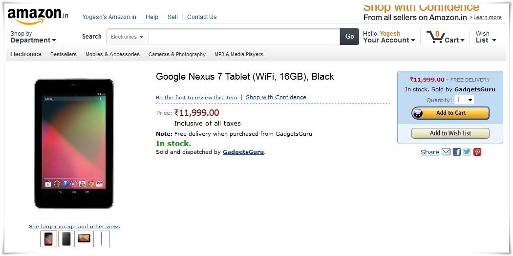 Google Nexus 7 deal