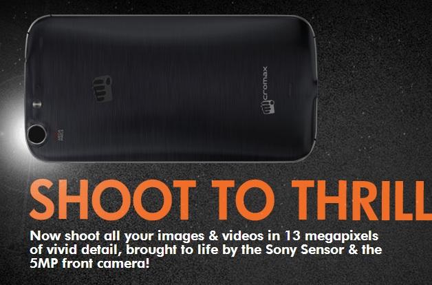 Micromax Canvas 4 Camera