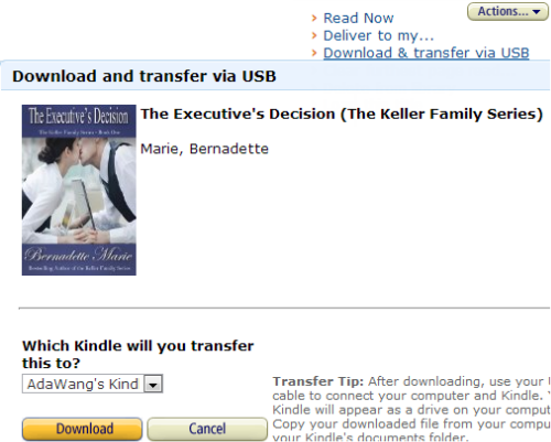 Transfer Books on Kindle