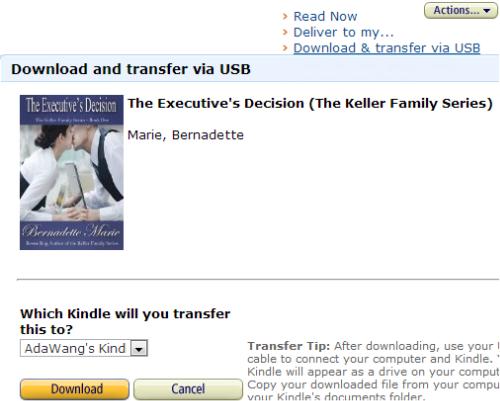 Transfer Books on Kindle