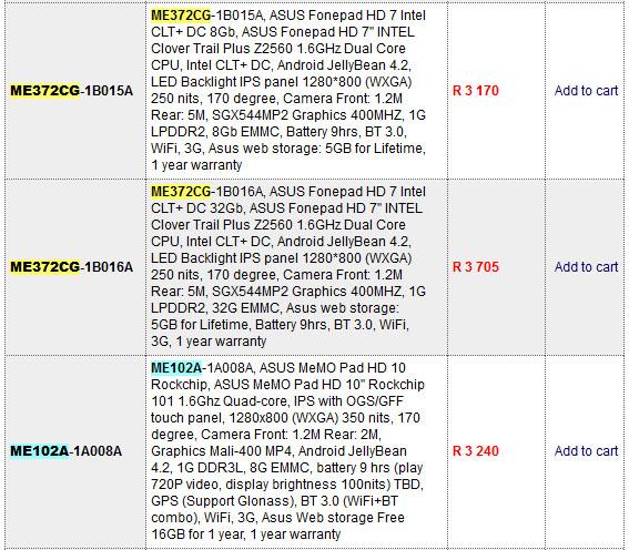 Asus FonePad HD 7