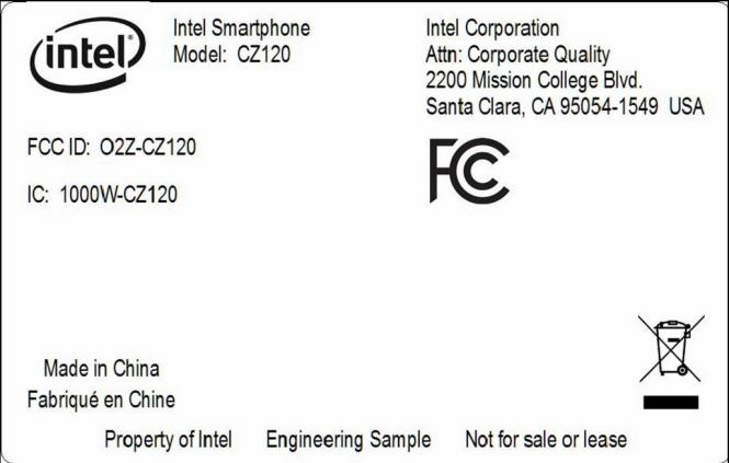 Intel CZ120 FCC