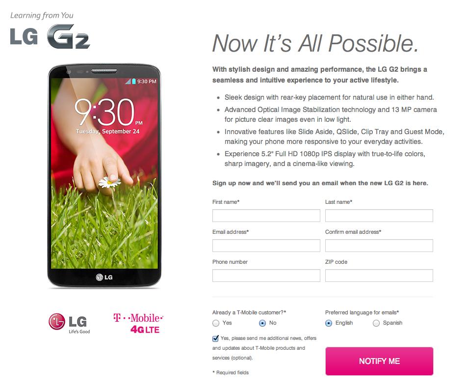 LG G2 T-mobile