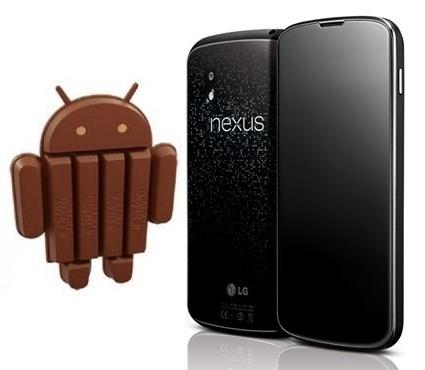 Google Nexus Android 4.4 Kitkat update