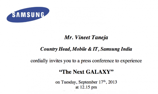 Samsung Galaxy Note 3 Invite