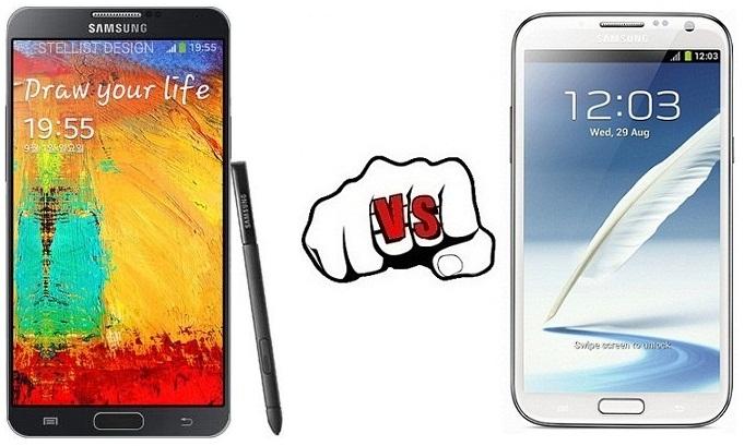 Samsung Galaxy Note 3 vs Galaxy Note 2
