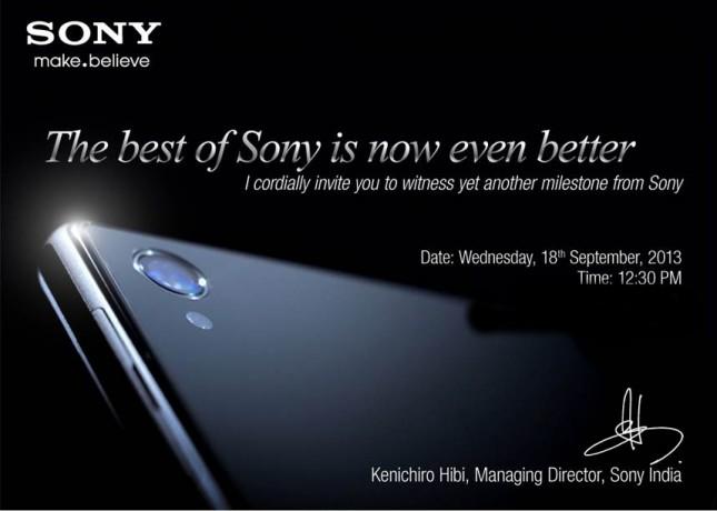 Sony Xperia Z1 Invite
