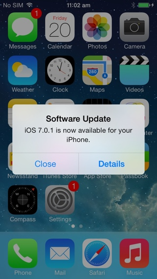 iphone 5s ios 7.0.1