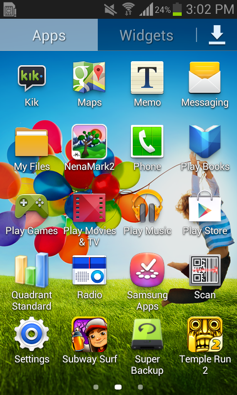 Galaxy Star Pro HomeScreen Apps