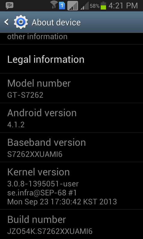 Samsung Galaxy Star Pro Software Update to XXUAMI6 Now Seeding